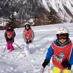 Skikurs Tiefschnee
